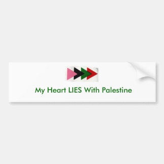 My Heart LIES With Palestine Bumper Sticker
