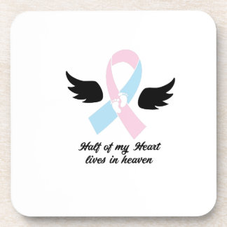 My Heart Lives In Heaven Loss Awareness Coaster