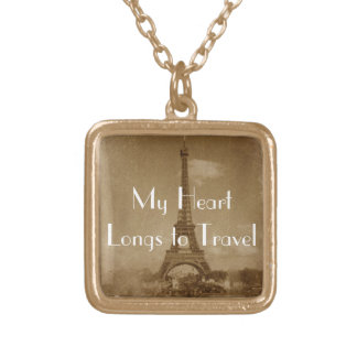 My Heart Longs to Travel Necklace
