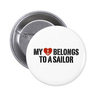 My Heart Sailor Button