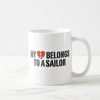 My Heart Sailor Coffee Mugs