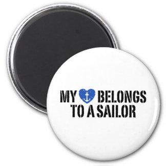 My Heart Sailor Refrigerator Magnets