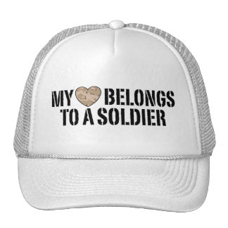 My Heart Soldier Mesh Hats
