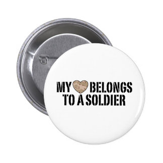My Heart Soldier Pin