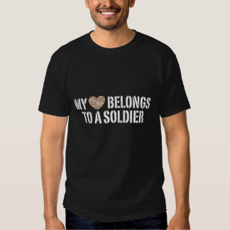 My Heart Soldier T Shirts