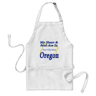 My Heart & Soul Are In Oregon Standard Apron