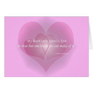 """My heart unto yours is knit"" Note Card"