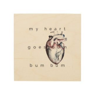 my heart wood wall art