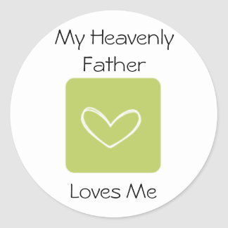 My Heavenly Father Loves Me LDS Primary Classic Round Sticker