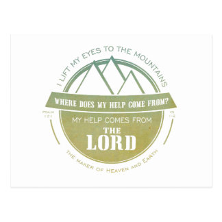 My help comes from the Lord, Green Logo Verse Postcard