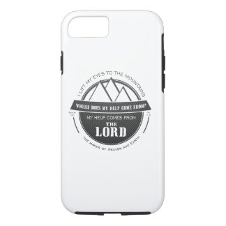 My help comes from the Lord, Mountain Logo Verse iPhone 7 Case