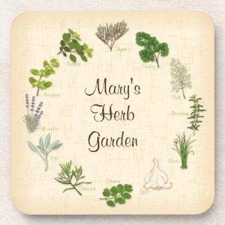 My Herb Garden Drink Coaster