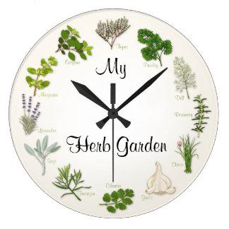 My Herb Garden Large Clock