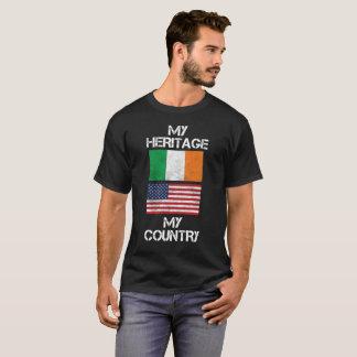 My Heritage My Country Irish American T-Shirt