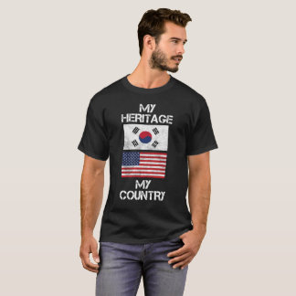 My Heritage My Country South Korea American TShirt