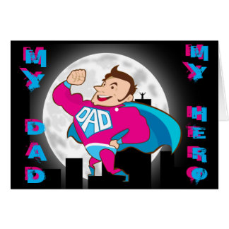 'My hero' Father's day card