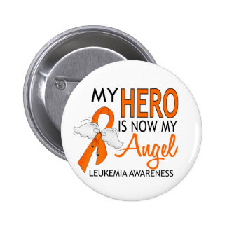 My Hero Is My Angel Leukemia 2 Inch Round Button