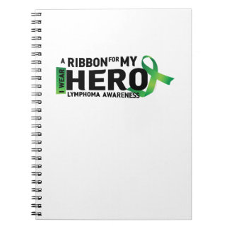 My Hero Lymphoma Awareness Support Gifts Notebooks