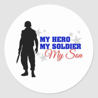 My Hero, My Soldier, My Son Classic Round Sticker