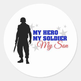 My Hero, My Soldier, My Son Round Sticker
