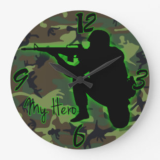 My Hero Round (Large) Large Clock