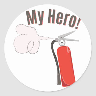 My Hero Round Sticker