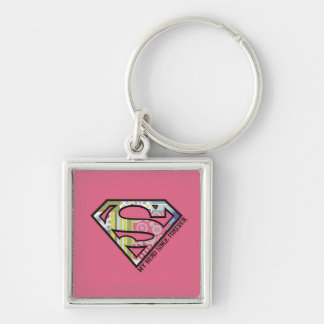 My Hero Since Forever Silver-Colored Square Keychain
