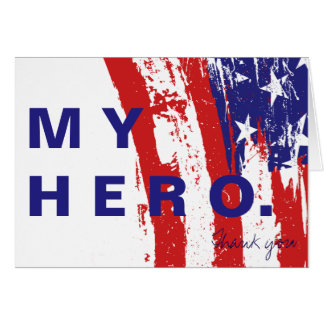 My Hero Thank You Solider Notecard