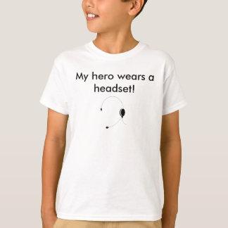 My hero wears a headset! t shirt