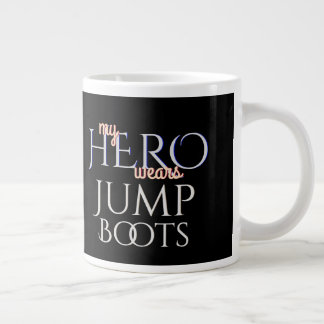 My Hero Wears Paratrooper Jump Boots Large Coffee Mug