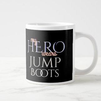 My Hero Wears Paratrooper Jump Boots Large Coffee Mug