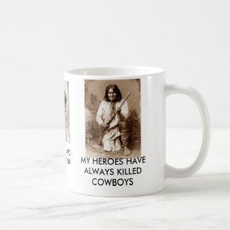 MY HEROES HAVE ALWAYS KILLED COWBOYS BASIC WHITE MUG