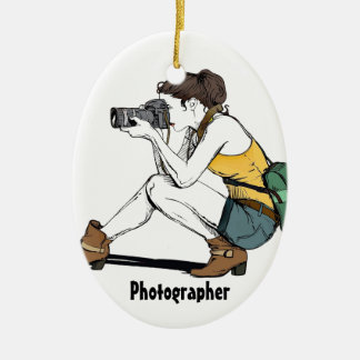 My Hobby is Photography Ceramic Ornament