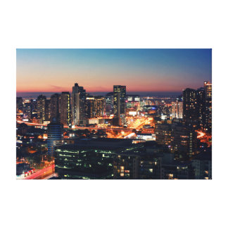 My Home City Melbourne Stretched Canvas Print