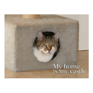 My home is my castle postcard