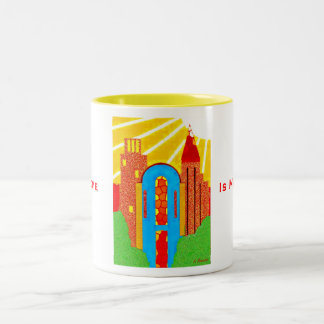 My Home Is My Castle Two-Tone Coffee Mug
