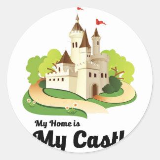 my home my castle classic round sticker