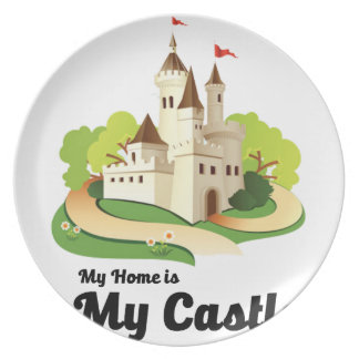 my home my castle plate