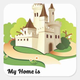 my home my castle square sticker