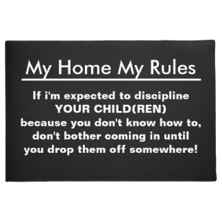 My Home My Rules for Kids Doormat