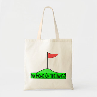 My Home On The Range Golf Budget Tote Bag