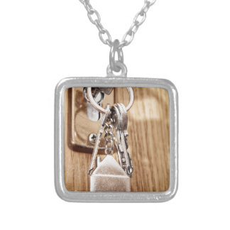 My home silver plated necklace