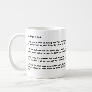 My Hope Is Built Hymn Mug