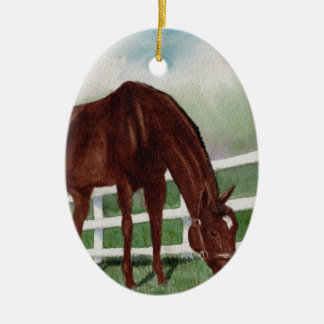 My Horse Ceramic Oval Ornament