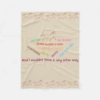 My horse - cheeky day dreamer fleece blanket