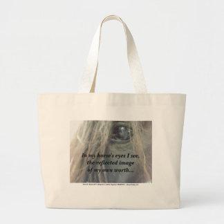 My Horse's Eyes duffel /tote bag