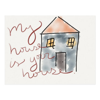 """""""My House is Your House"""" New Home Announcement Postcard"""
