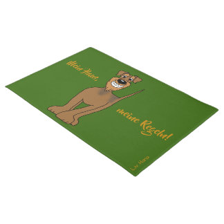 My house, my rules! Airedale Terrier Doormat