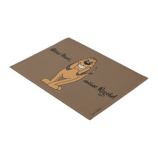 My house, my rules! Bloodhound Doormat