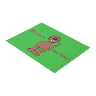 My house, my rules! Doodle Doormat